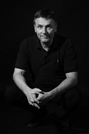 men portrait, black shirt, business men, manager, leisure, black and white