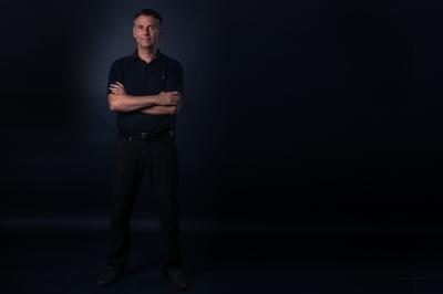 men portrait, black shirt, business men, manager, leisure