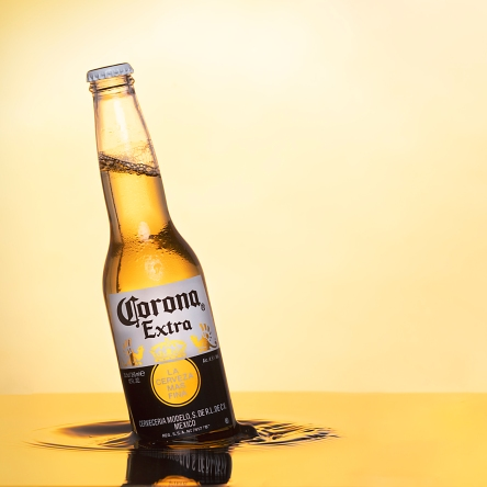 corona beer with waves