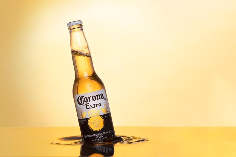 corona beer with waves