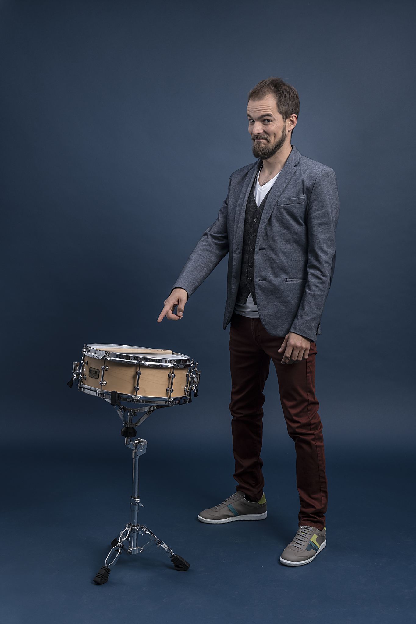 musician with drum